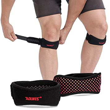 d9fe0025b6 Ailaka 2 Count Knee Patella Support Strap, Adjustable Knee Brace and Best  Patellar Tendon Support