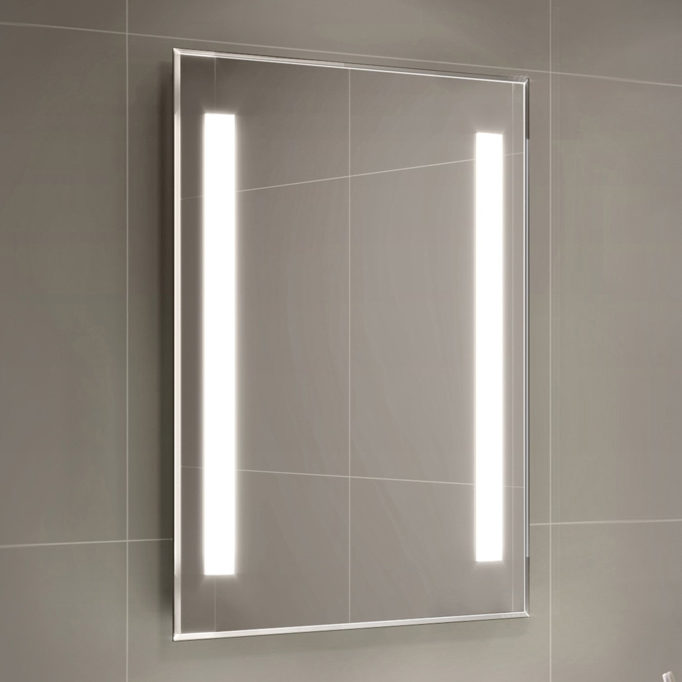500 x 700 mm Modern Illuminated Backlit LED Bathroom Mirror Light ML2107 iBathUK