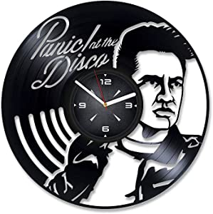 Rock Band Musicians Vinyl Record Wall Clock. Decor for Bedroom, Living Room, Kids Room. Gift for Him or Her. Christmas, Birthday, Holiday, Housewarming Present.