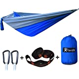 Favofit Camping Hammock with Straps (Combined 22 Loops and 16 FT)
