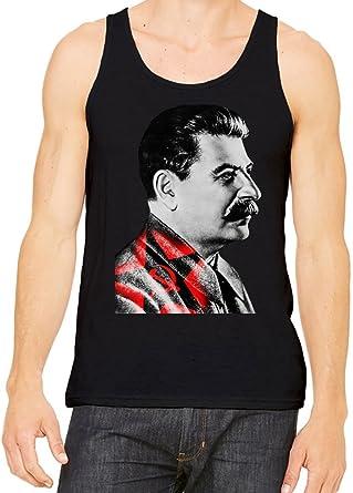 d6aa17a10196f1 Joseph Stalin Portrait Tank Top T-Shirt For Men   Women