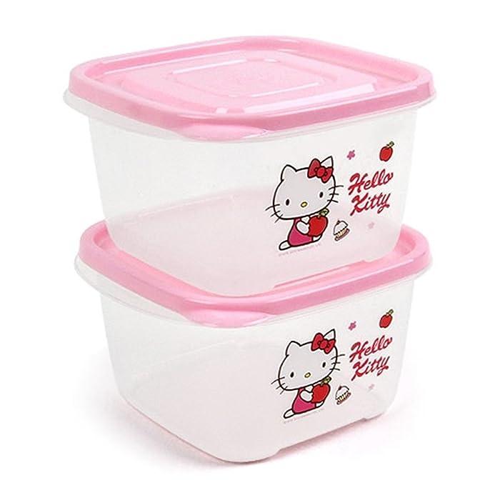 Lock & Lock Hello Kitty Apple Easy-Lock Food Storage Containers 970ml 2pcs LKT810