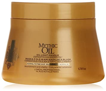 6af0db5b5 Amazon.com: Loreal Mythic Oil Light Mask Normal To Fine Hair 200ml: Beauty