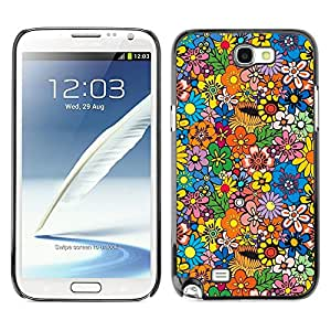 MOBMART Carcasa Funda Case Cover Armor Shell PARA Samsung Note 2 N7100 - Flowers In The Sunlight