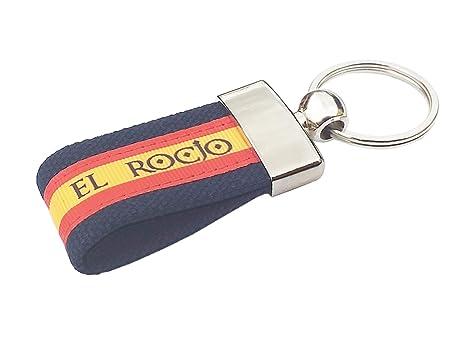 LGP - Llavero Bandera DE ESPAÑA de Lona Azul, El Rocio ...