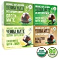 Organic Yerba Mate Tea Bags - Variety Pack - Green Mate, Mint, Lemon, and Roasted Mate - Mate Cocido - Natural Antioxidant and Fat Burner - 80 bags (20 of each flavor)