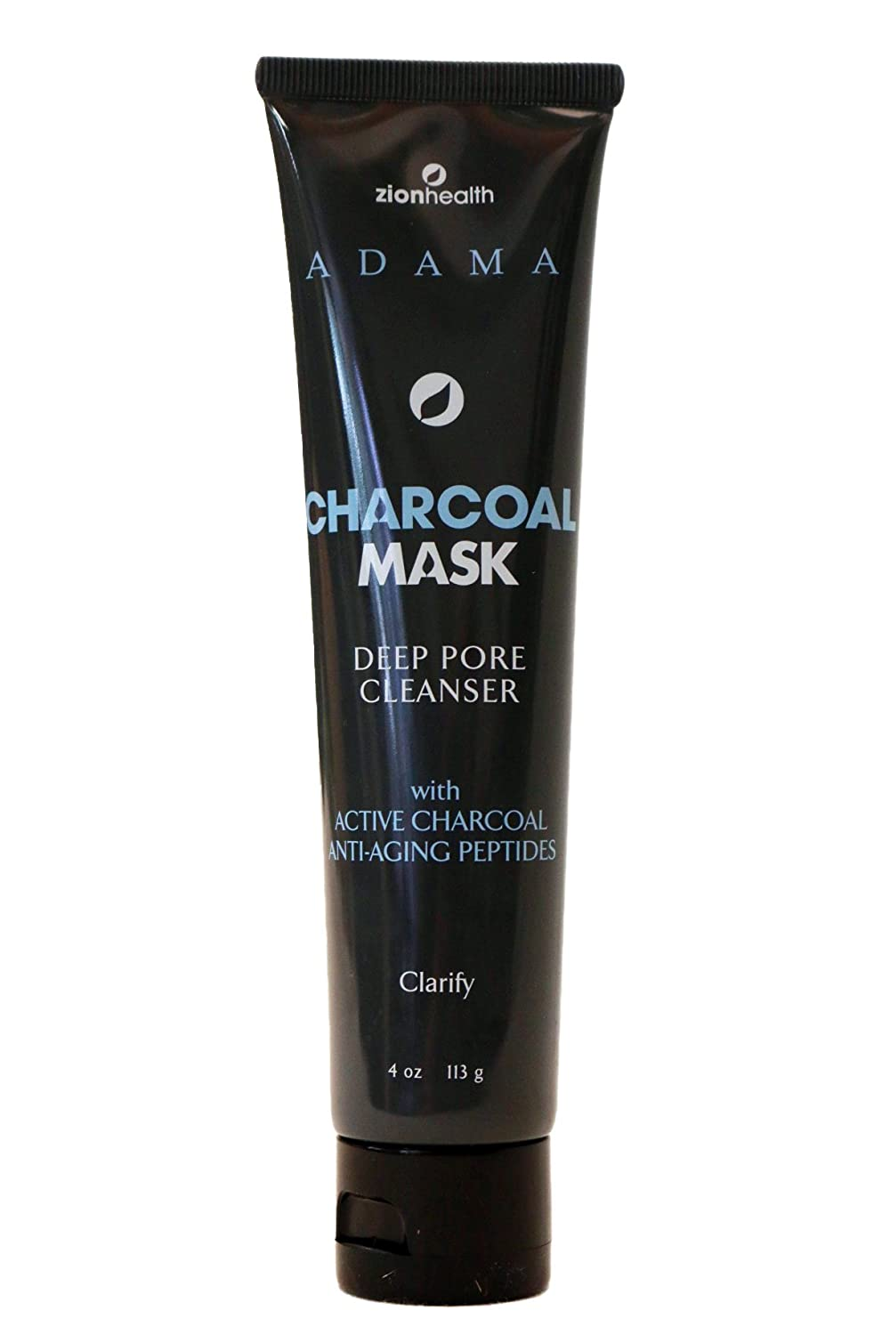 Zion Health Charcoal Face Mask - Intense Purifying Mask with volcanic clay-4oz