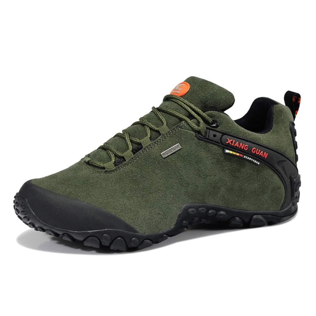 XIANG GUAN Herren Outdoor Footwear Wildleder Wasserdicht Atmungsaktiv Schuhe Trekking Reisen Wandern Gehen Turnschuhe