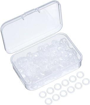 200 Piezas de Arandelas de Goma Anillos Tóricos de Sello Amortiguadores de Teclado con Caja de Almacenaje de Plástico para Teclado de Conmutación ...