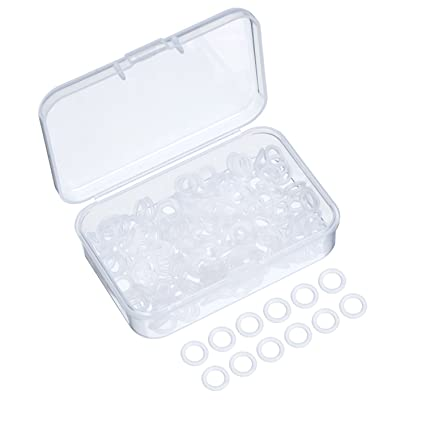 Amazon.com: Sumind 200 Pieces Rubber Rings Clear Seal O-ring Rubber ...