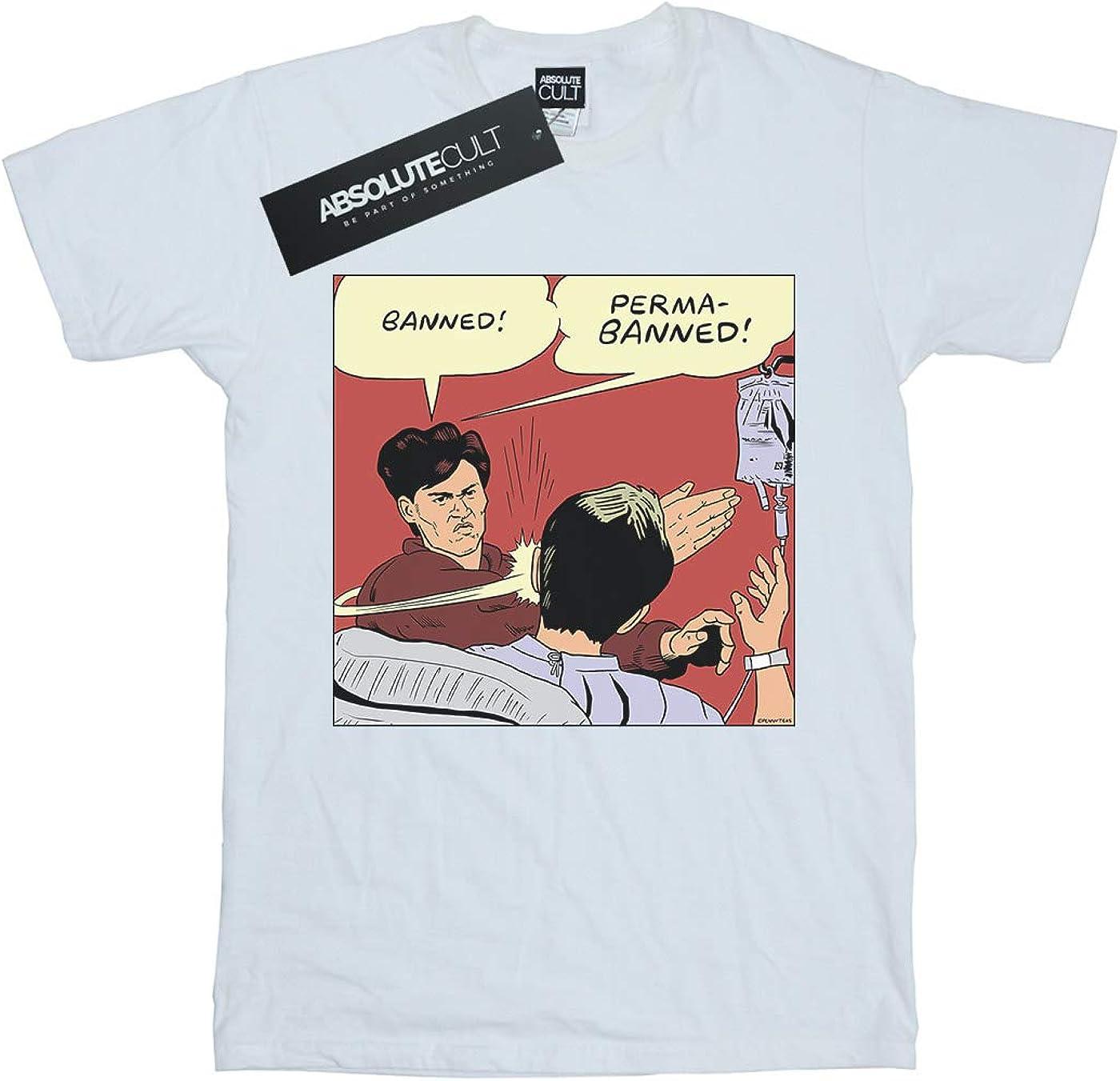 Pennytees Niñas Banned Permabanned Camiseta: Amazon.es: Ropa y accesorios