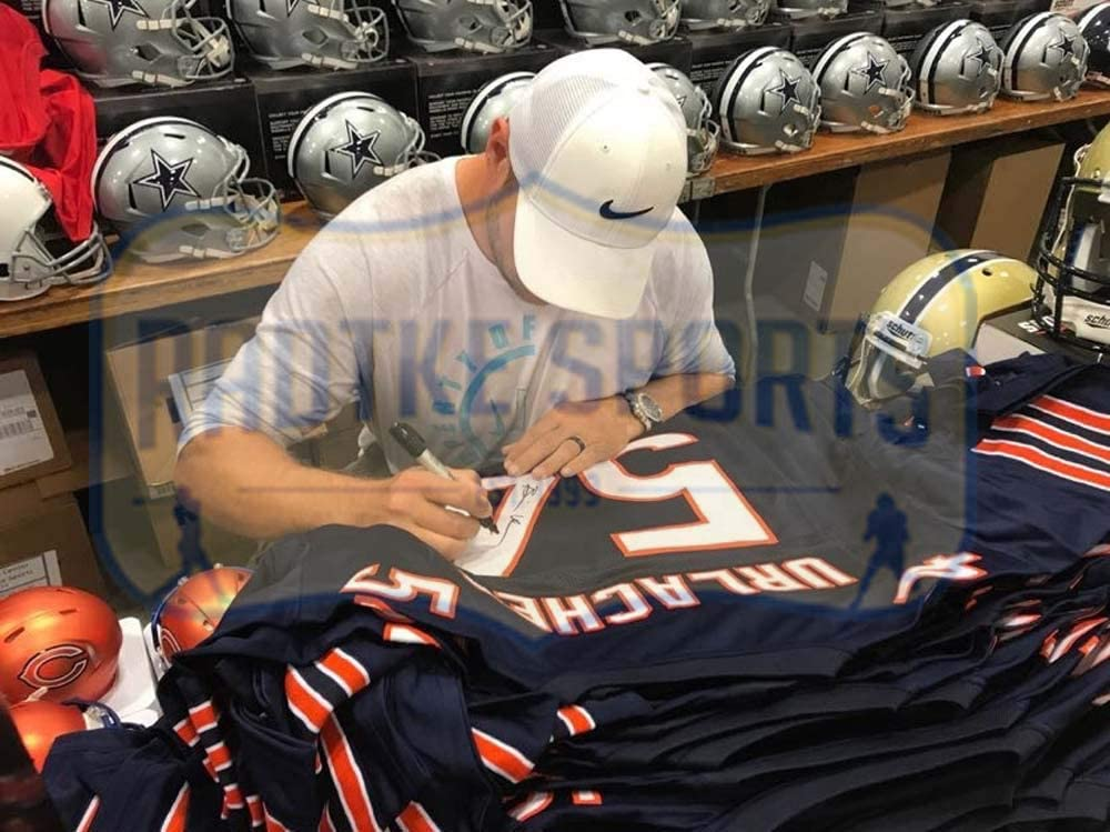 Brian Urlacher Autographed//Signed Chicago Custom Blue Jersey