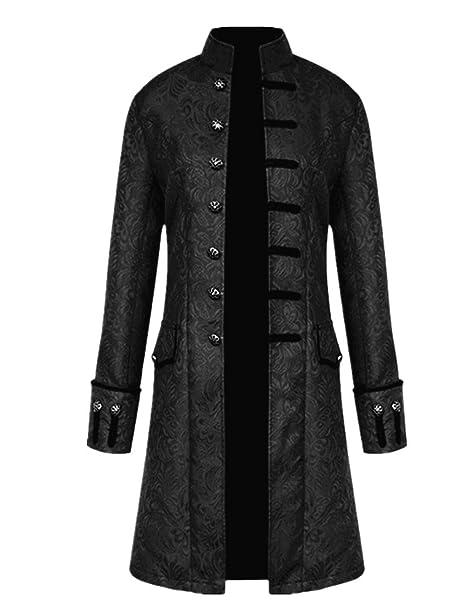 Amazon.com: Mens Steampunk Vintage Jacket Halloween Costume ...
