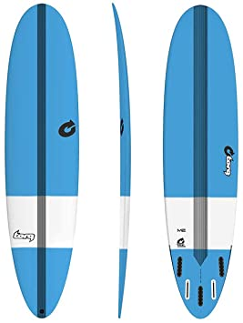 TORQ Tabla de Surf epoxy Tec M2 8.0 Tint Blue Mini Malibu Longboard