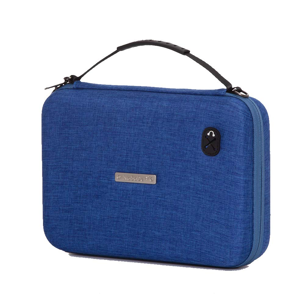 NaSaDen Hardshell Travel Storage Case GPS Carrying Case, Portable Hard Shell Protective Pouch Storage Bag for Car GPS [Rhine Blue] by NaSaDen