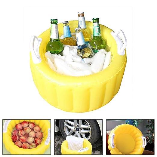 Waroomblue - Cubo de Hielo Hinchable para Enfriar la Cerveza en la ...