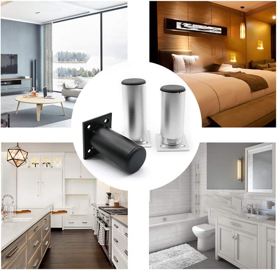 armarios sof/ás mesas de caf/é 4 Piezas ZYFA Patas para Muebles,Altura Regulable Pata de Muebles Aleaci/ón de Aluminio,Metal de Mesa piernas,para mesas de Comedor etc