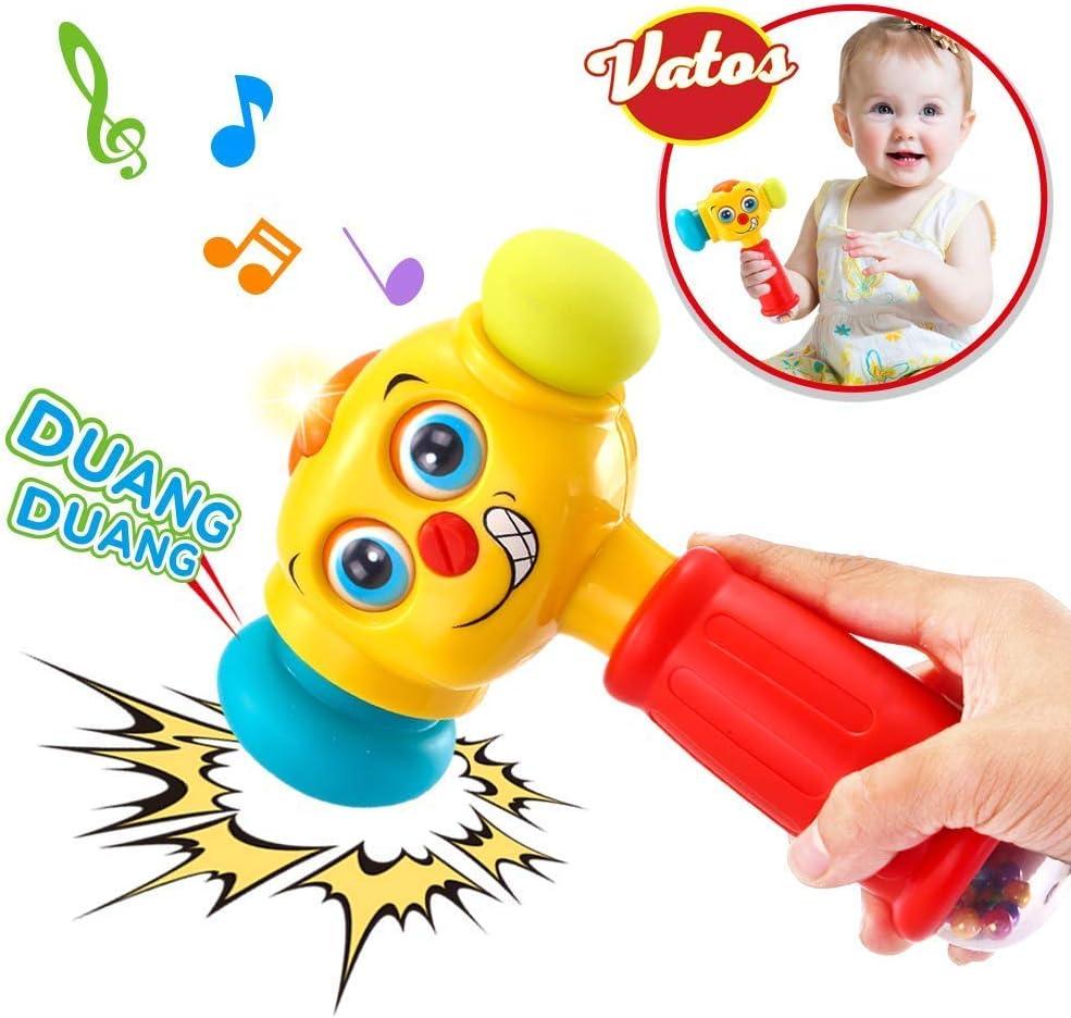 VATOS Bebé Martillo Juguete Bebé Juguetes Ligero y Musical 12 a 18 Meses Arriba Juguetes Infantiles Martillo Bebé Los Mejores Juguetes Regalos para 1 año (Solo Pronunciación en inglés)