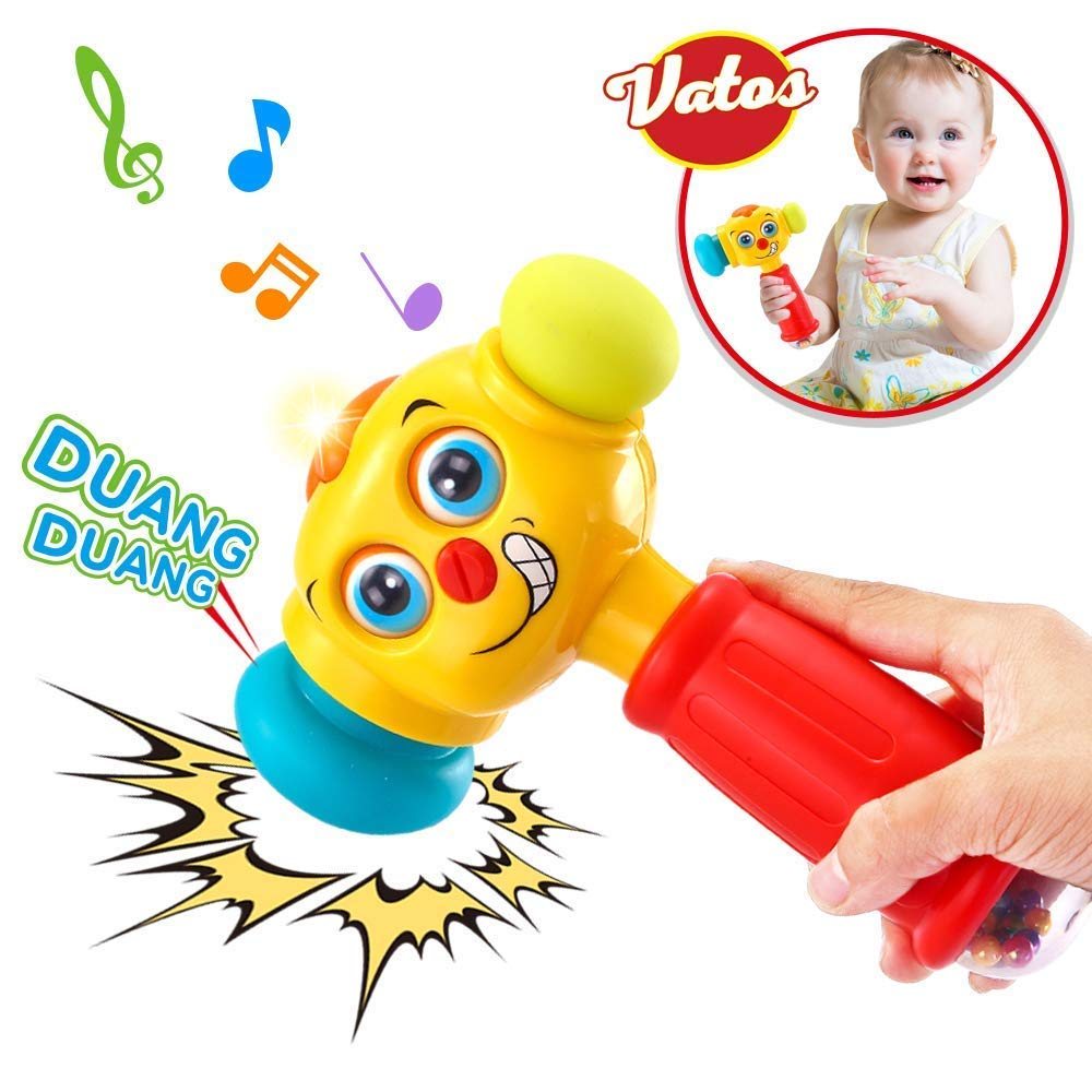 VATOS Licht & Musik Baby Spielzeug Hammer - für Babys & Kleinkinder ab 12 bis 18 Monate - Lustige veränderbare Augen Hammer Spielzeug für Babys ab 1 Jahr - Tolles Geschenk bewerte