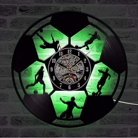 jasonding Balón De Fútbol Led Reloj De Pared De Diseño Moderno ...