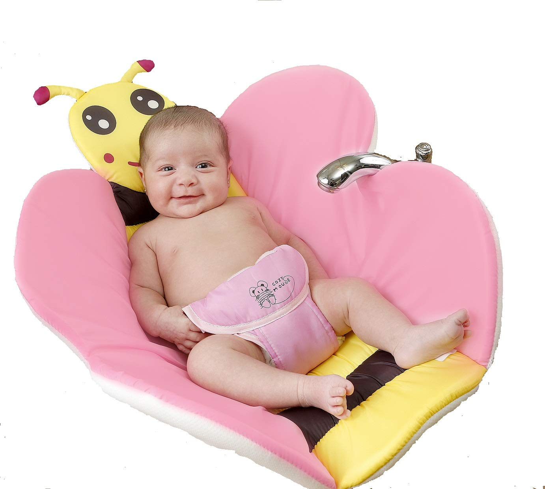 Cozy Mouse Baby Bath Tub Insert Infant Sink Bath Newborn Bath Sponge Baby Bath Pillow (Pink) by COZY MOUSE