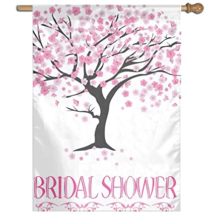 poiuyt personalized home garden flag bridal shower tree yard flag house flag decoration 27 x 37