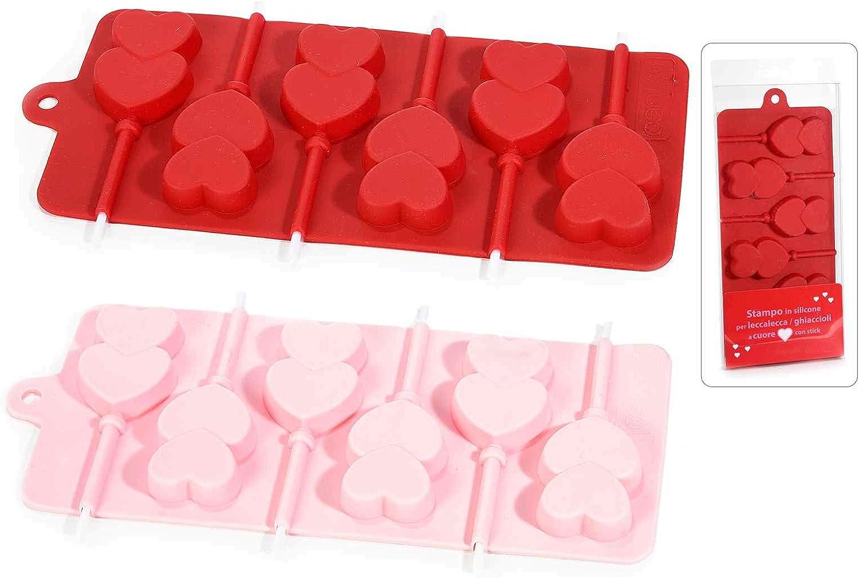 Ideapiu 4 – Molde Silicona para 6//Polos Corazón con Stick: Amazon ...