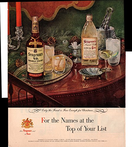Seagram's V.O. Canadian Whisky Names At Top Of List 1954 Vintage - Of List Canadian Stores