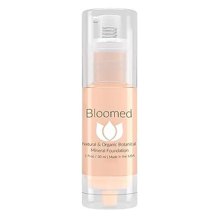 Liquid Foundation Organic Makeup – Best Vegan All Natural Gluten Free Aloe Base Liquid Foundation For Mature Skin Dashing Dahlia