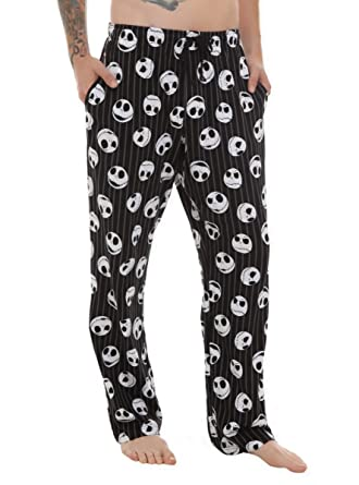 The Nightmare Before Christmas Jack Striped Men's Pajama Pants at ...