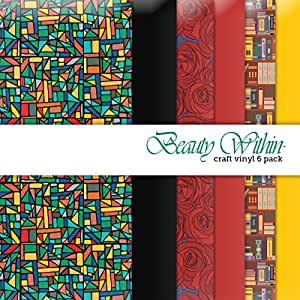 Beauty Within Multi-pack Printed Craft Vinyl 6 Sheets 12x12 for Vinyl Cutters