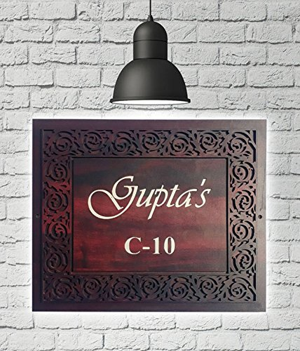 Sangam Ad Personalized Acrylic Customised Door Name Plate Made Product For Home Décor18 Inch X 12 Inch