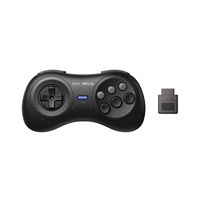 8Bitdo M30 2.4G Wireless Gamepad for the Original Sega Genesis and Sega Mega Drive - Sega Genesis,Black