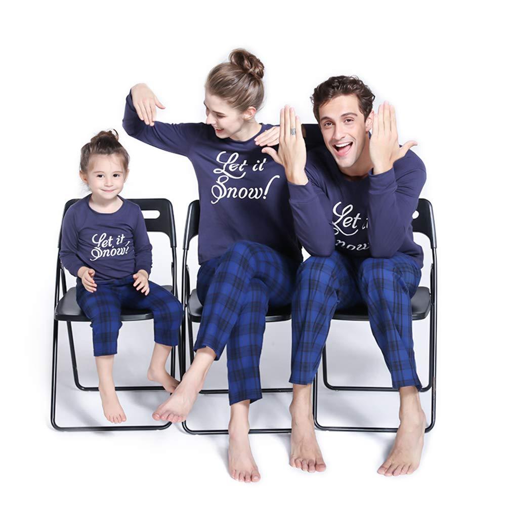PatPat Family Matching Christmas Pajamas Set - Let it Snow Print Tops and  Plaid Pants Sleepwear for Family e9db0da75