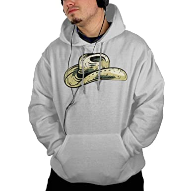 Sweater Hoodie Pockets Cute Cowboy Hat for Man Humorous