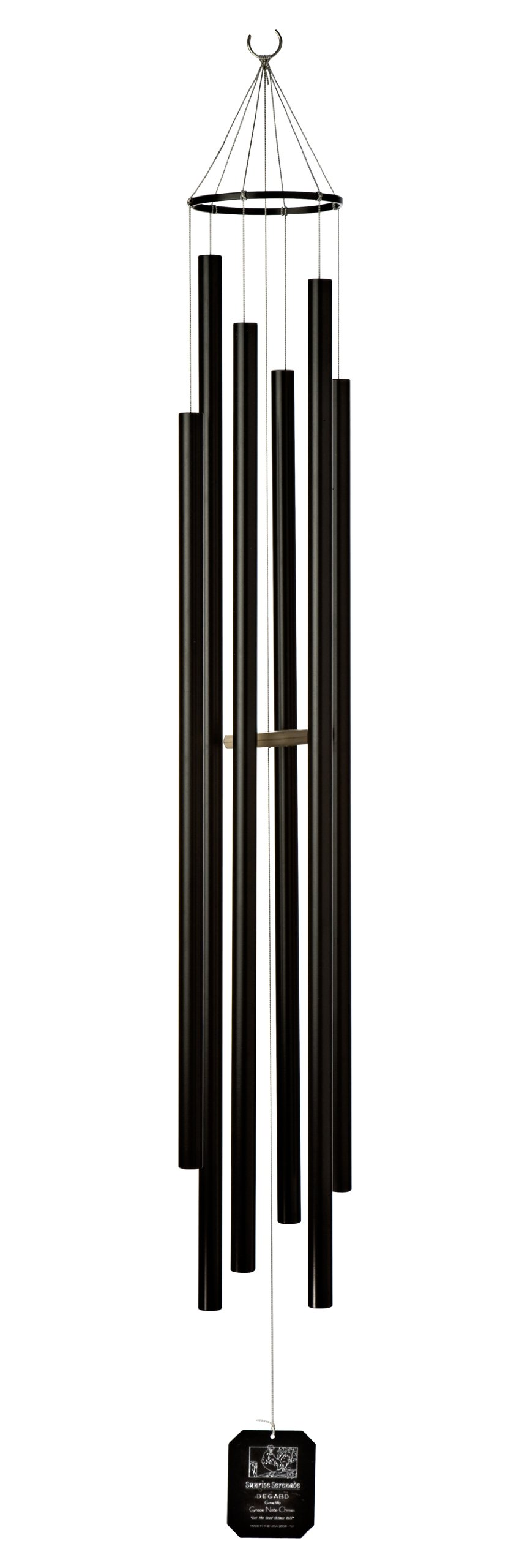 Grace Note Chimes 7STB Regular Steeple Sunrise Serenade Wind Chimes, 57-Inch, Black by Grace Note Chimes