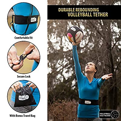 Red Oak Collections Indoor Outdoor Volleyball Training Tether: Practice Trainer Equipment Gear Aids Serving Spike & Setting Skills for Kids High School Junior Pro & Beach Players by Red Oak Collections