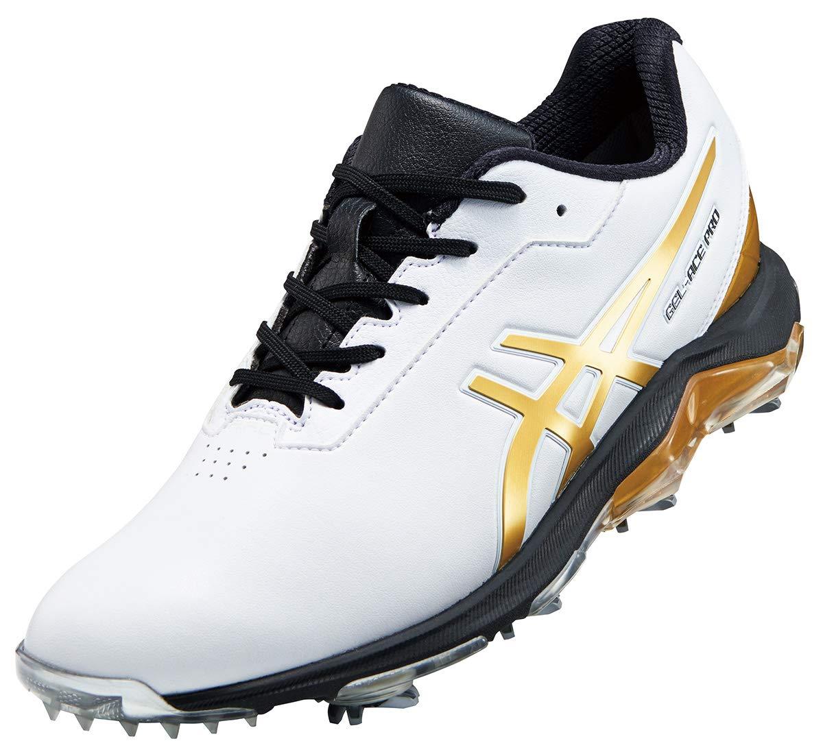 アシックス(asics) ゲルエース プロ 4 ゴルフシューズ 1113A013 101 ホワイト/リッチゴールド 25.5cm