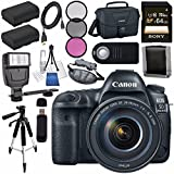 Canon EOS 5D Mark IV DSLR Camera with 24-105mm f/4L II Lens 1483C010 + LPE-6 Lithium Ion Battery Bundle