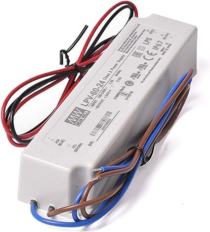 /étanch/éit/é de IP67 Transformateur /à /éclairage LED Mean Well LPV-60-12 5A 60/ W pour bloc d/'alimentation /à d/écoupage de12/V