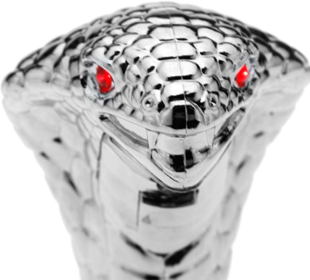 SING F LTD Car Manual Gear Shift Lever Knob Snake Cobra Shifter Red Led Eyes Chrome