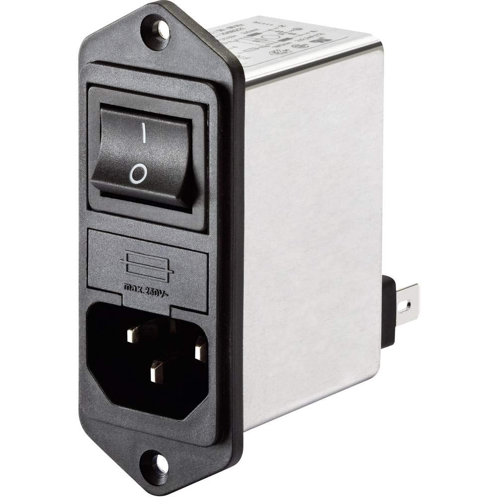 Snap-in Version M11AG Series 6 Amp Power Entry EMI Filter with Quick Connects
