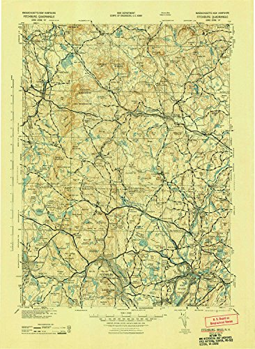 Yellowmaps Fitchburg Nh Topo Map  1 125000 Scale  30 X 30 Minute  Historical  1943  21 6 X 15 8 In   Paper