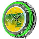 Best SuperSonic clock - NBA Seattle SuperSonics Chrome Neon Clock, One Size Review