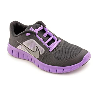 detailing f5472 9647c NIKE Free Run 3 Black Iris Reflect Silver Big Kids GS Running (GS) (