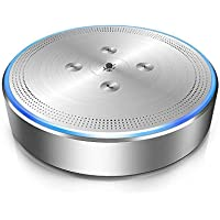 Llamadas de conferencia–Altavoz emeet officecore M1plata inalámbrico manos libres de conferencias para 6–8personas 360° Pickup llamadas de conferencia altavoz de audio 26ft far-field 360° de reconocimiento de voz Audio Pickup