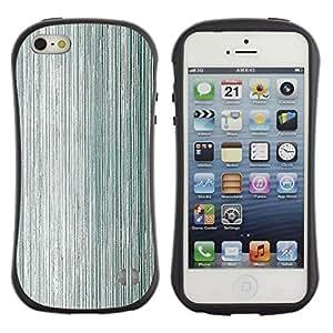 "Hypernova Slim Fit Dual Barniz Protector Caso Case Funda Para Apple iPhone SE / iPhone 5 / iPhone 5S [La textura del metal Madera Gris Aluminio""]"