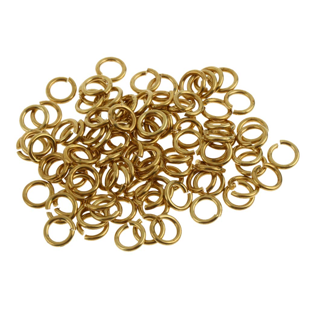 Non-brand Lote de 100 Conectores de Anillas Abiertas chapados en Oro para la