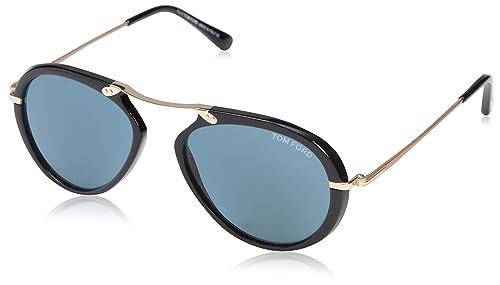 127ed7adf1 Tom Ford Men's TF473 Aaron Sunglasses, Shiny Black: Tom Ford: Amazon ...
