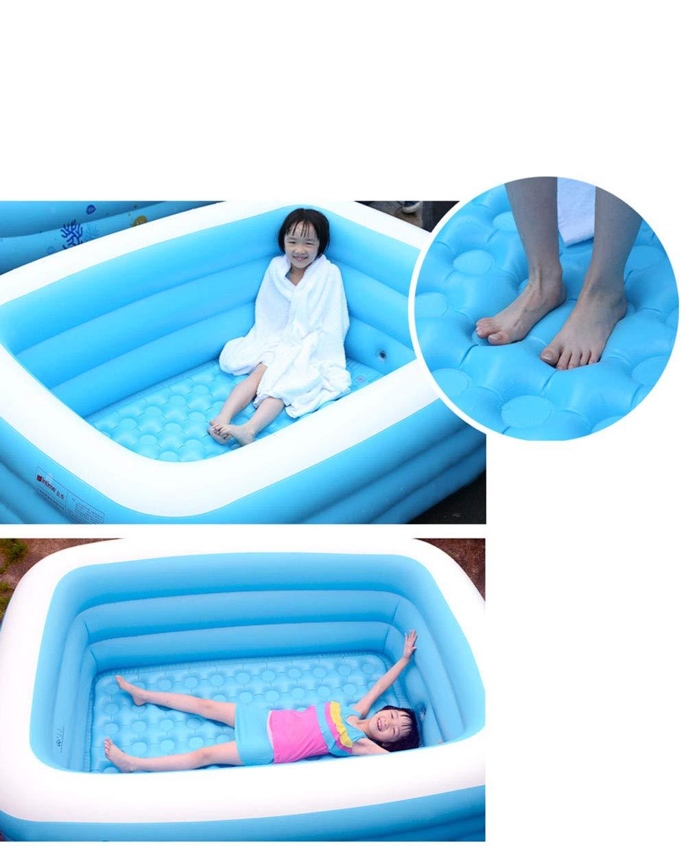 YUHAO(de) Inflatierbarer Kinderpool - Familie Und Kinder Inflatierbarer Rechteckiger Pool(1.5m)  1.3m